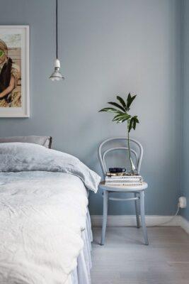 สีฟ้า, ห้องนอน, หลับสบาย
