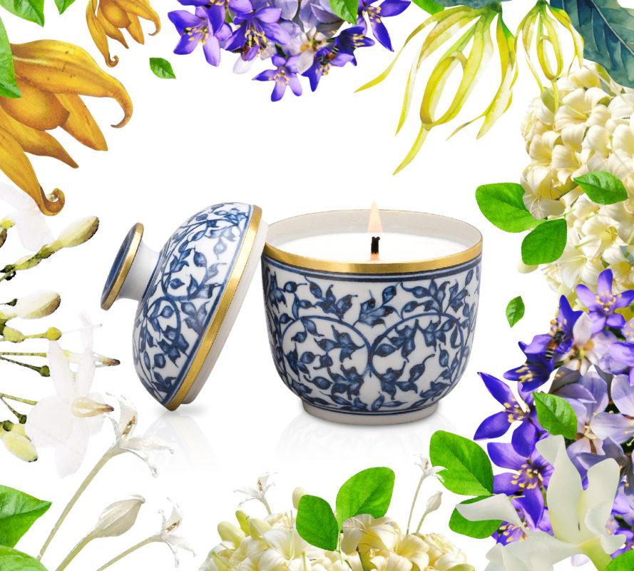 เทียนหอม 38กลิ่นดอกไม้ไทย